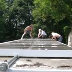 Vor dem Abbau der Fotovoltaik-Anlage
